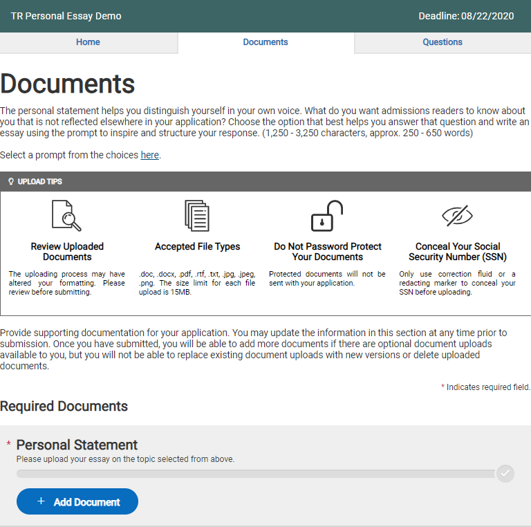 Common App For Transfer Personal Statement Changes